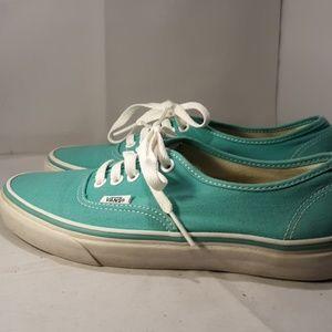 Turquoise Van's Sneakers